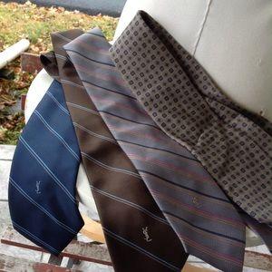 Four silk yves saint laurent ties.